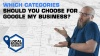 Which categories should car dealers choose in GMB?